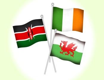 Flags Irland Wales Kenia