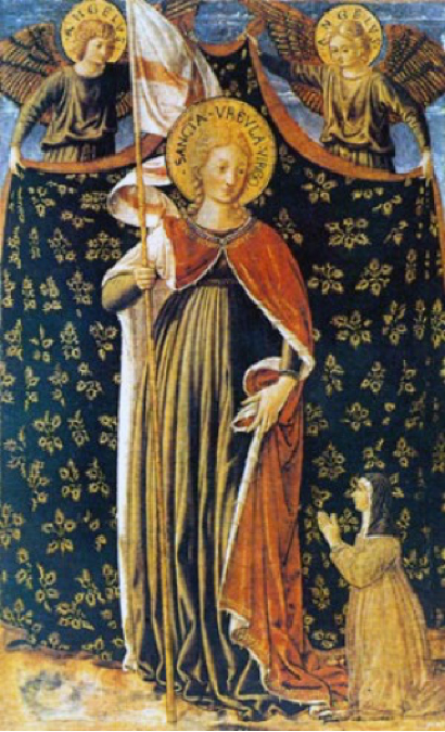 Sainte Ursule; Benozzo Gozzoli, National Gallery of Art, Washington, DC